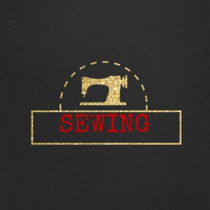 Sewing machine design - Men's V-Neck T-Shirt