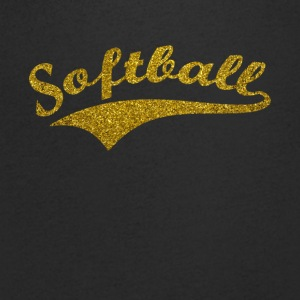 softbal v3 - Mannen T-shirt met V-hals