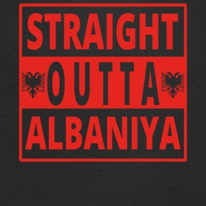 Straight outta AlbaniYa Albania - Men's V-Neck T-Shirt