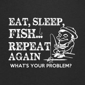 FISHING EAT SLEAP - Men's V-Neck T-Shirt