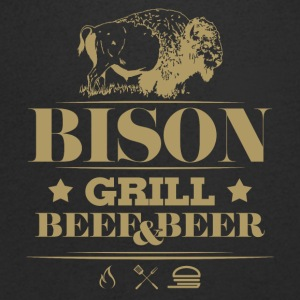 Grill · Barbecue · Bison - T-shirt Homme col V