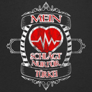 My heart is only for Turkey - Men's V-Neck T-Shirt