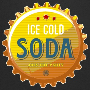 ice cold soda water beer beer party summer Cola - Men's V-Neck T-Shirt