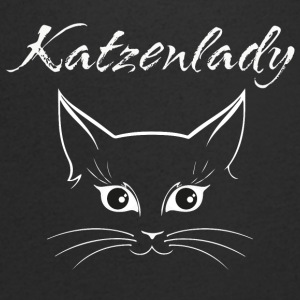 Cat Lady - T-shirt med v-ringning herr