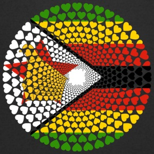 Zimbabwe Zimbabwe Great Zimbabwe Love HEART Mandala - Men's V-Neck T-Shirt