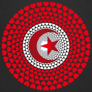 Tunisia Tunisia تونس ⵜⵓⵏⴻⵙ Love HEART Mandala - Men's V-Neck T-Shirt
