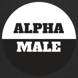 Alpha Male - T-skjorte med V-utsnitt for menn