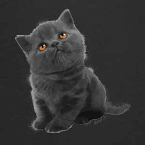The British Shorthair - Cute Kitten - T-skjorte med V-utsnitt for menn