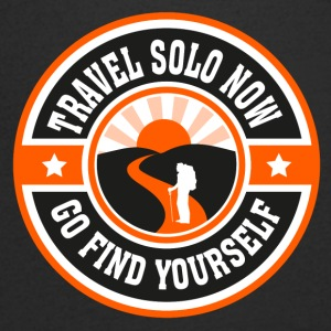 Travel Solo Now, Go Find Yourself - Men's V-Neck T-Shirt
