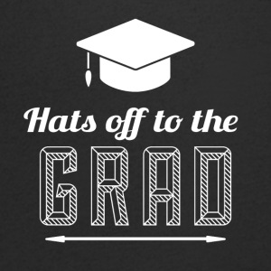 High School / Graduation: Hats off to the degree - Men's V-Neck T-Shirt