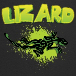 Cool tribal lizard - Mannen T-shirt met V-hals