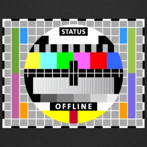 Testbild Display screen test card offline Big Bang - Männer T-Shirt mit V-Ausschnitt
