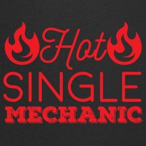 Mechanic: Hot Single Mechanic - T-shirt med v-ringning herr
