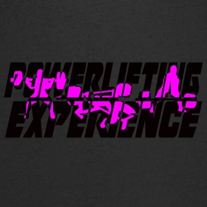powerlifting EXPERIENCE black and purple - Men's V-Neck T-Shirt