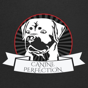 Dog / Rottweiler: Canine Perfection - T-skjorte med V-utsnitt for menn