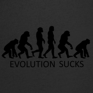 ++ ++ Evolution Sucks - T-skjorte med V-utsnitt for menn