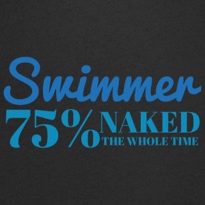 Swimming / Swimmer: Swimmer - 75% naked - Men's V-Neck T-Shirt