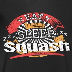Eat Sleep Squash - T-shirt med v-ringning herr