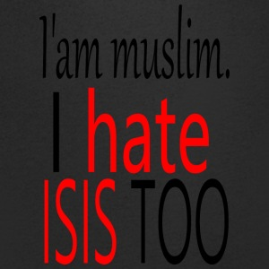 iam muslim. i hate isis too - Men's V-Neck T-Shirt