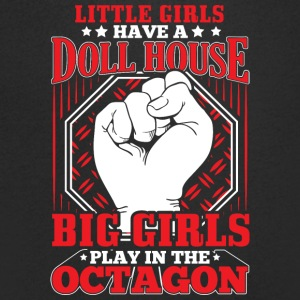 MMA LITTLE GIRLS OCTAGON - Men's V-Neck T-Shirt