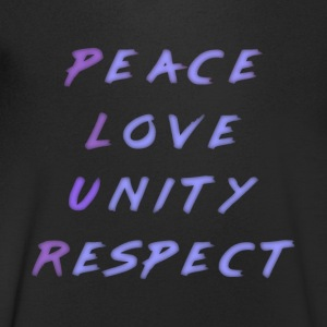 Peace Love Unity Respect P.L.U.R. blue purple - Men's V-Neck T-Shirt