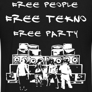 Free people - Free tekno - Free party - Men's V-Neck T-Shirt