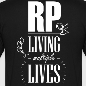 Role play - Living multiple lives - Herre T-shirt med V-udskæring