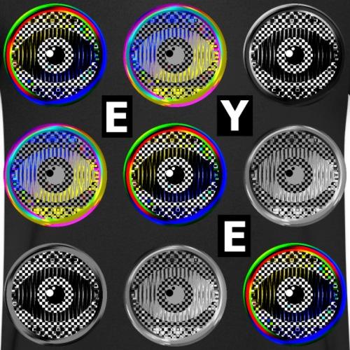 pop konst runda ögon med text - Men's Organic V-Neck T-Shirt by Stanley & Stella