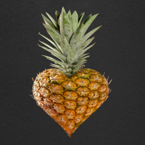 Ananas Herz - Männer Bio-T-Shirt mit V-Ausschnitt von Stanley & Stella