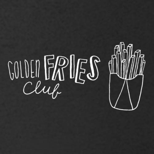 Luloveshandmade - Golden Fries Club (white) - Männer Bio-T-Shirt mit V-Ausschnitt von Stanley & Stella