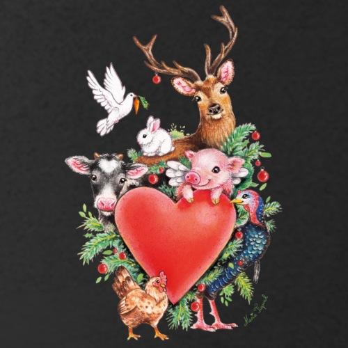 Christmas heart by Maria Tiqwah - Men's Organic V-Neck T-Shirt by Stanley & Stella