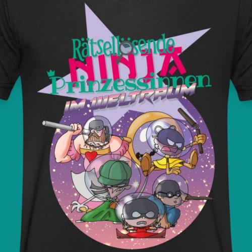 Ninja Prinzessinnen - Männer Bio-T-Shirt mit V-Ausschnitt von Stanley & Stella