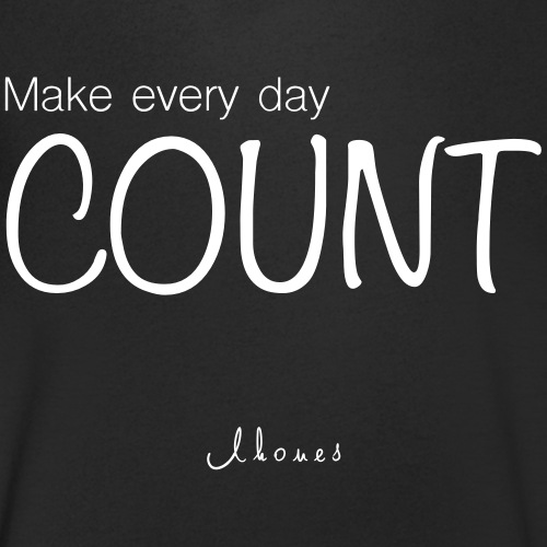 MAKE EVERY DAY COUNT - Men's Organic V-Neck T-Shirt by Stanley & Stella