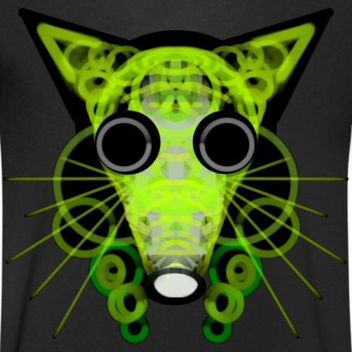 strange head of a rat in punk style - Men's Organic V-Neck T-Shirt by Stanley & Stella
