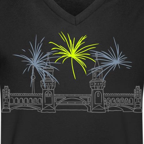 Oberbaumbrücke a Berlino - T-shirt ecologica da uomo con scollo a V di Stanley & Stella