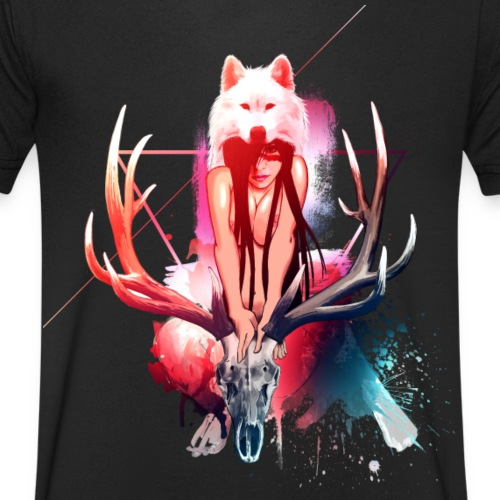 Queen of the Wolves png - T-shirt bio col V Stanley & Stella Homme