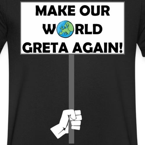 FFF - MAKE OUR WORLD GRETA AGAIN! - Männer Bio-T-Shirt mit V-Ausschnitt von Stanley & Stella