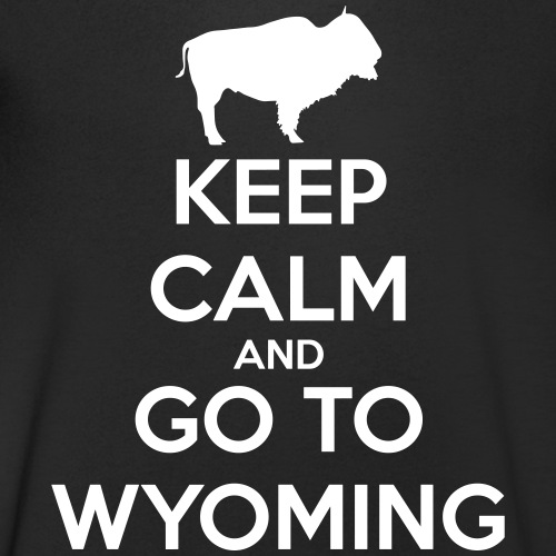Keep Calm Go To Wyoming - T-shirt bio col V Stanley & Stella Homme