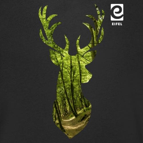 Eifel-Hirsch - weiß - Männer Bio-T-Shirt mit V-Ausschnitt von Stanley & Stella
