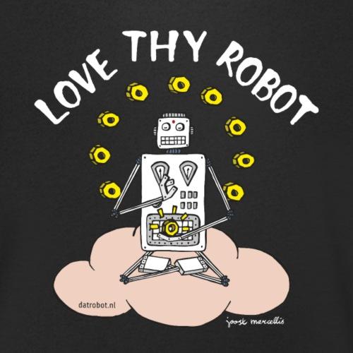 Dat Robot: Love Thy Robot Buddha Dark - Mannen bio T-shirt met V-hals van Stanley & Stella