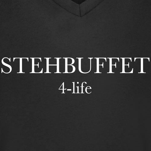 Stehbuffet schwarz - Männer Bio-T-Shirt mit V-Ausschnitt von Stanley & Stella