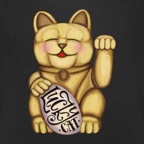 Lucky Cat - Männer Bio-T-Shirt mit V-Ausschnitt von Stanley & Stella