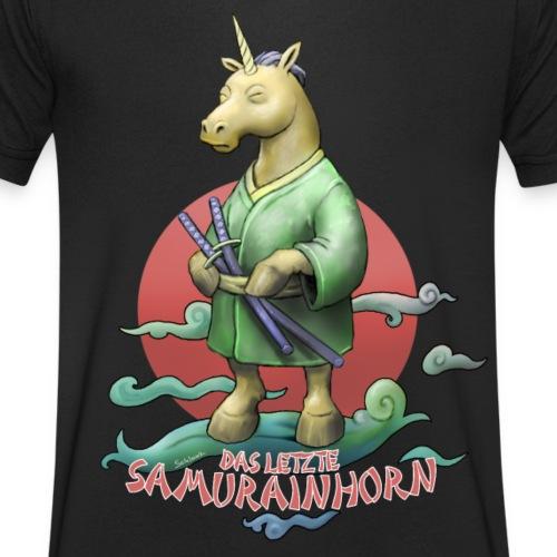 Samurainhorn - Männer Bio-T-Shirt mit V-Ausschnitt von Stanley & Stella