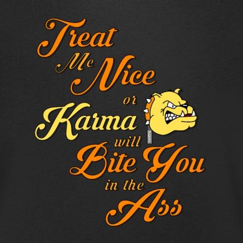 Karma - Treat me nice - Ekologisk T-shirt med V-ringning herr från Stanley & Stella