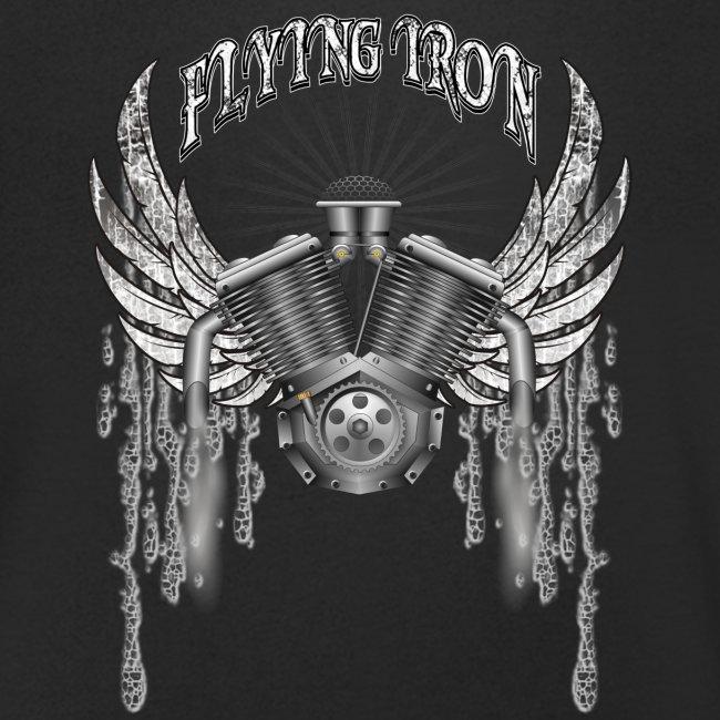 Biker Motiv fliegernder Motor mit Flügeln