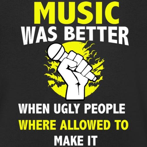 Musik Gitarre Mikrofon Sänger Sängerin - Männer Bio-T-Shirt mit V-Ausschnitt von Stanley & Stella