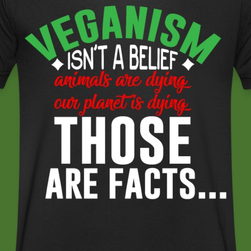 Veganism isn´t a belief - animals are dying - Männer Bio-T-Shirt mit V-Ausschnitt von Stanley & Stella