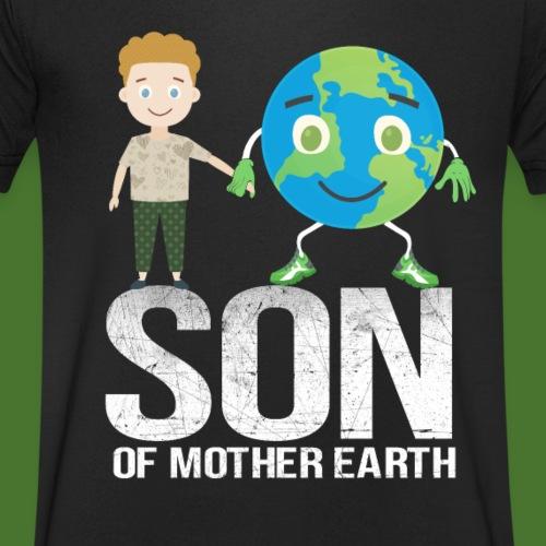 Son of mother earth - Männer Bio-T-Shirt mit V-Ausschnitt von Stanley & Stella