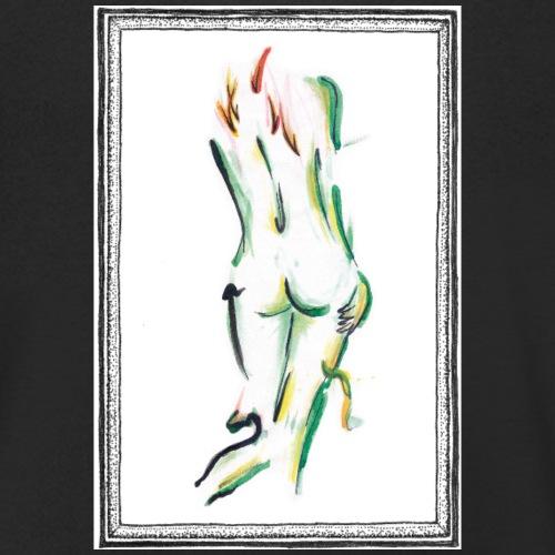 Naked lady - Økologisk Stanley & Stella T-shirt med V-udskæring til herrer