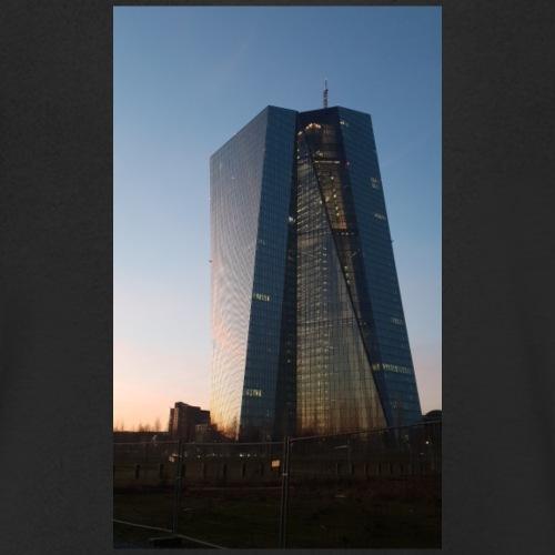 Europäische Zentralbank bei Sonnenuntergang - Männer Bio-T-Shirt mit V-Ausschnitt von Stanley & Stella